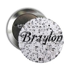 "Braylon, Matrix, Abstract Art 2.25"" Button"