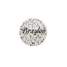 Braylon, Matrix, Abstract Art Mini Button