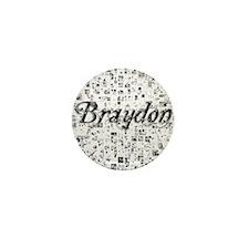Braydon, Matrix, Abstract Art Mini Button