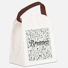Brennen, Matrix, Abstract Art Canvas Lunch Bag