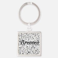 Brennen, Matrix, Abstract Art Square Keychain