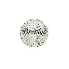 Brenton, Matrix, Abstract Art Mini Button
