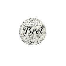 Bret, Matrix, Abstract Art Mini Button