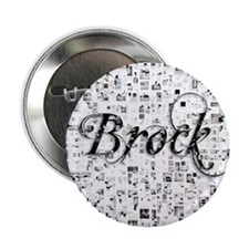 "Brock, Matrix, Abstract Art 2.25"" Button"
