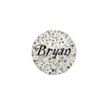 Bryan, Matrix, Abstract Art Mini Button