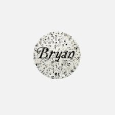 Bryan, Matrix, Abstract Art Mini Button