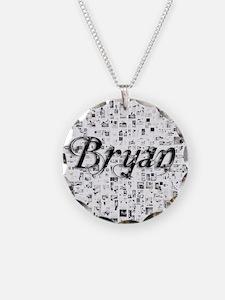 Bryan, Matrix, Abstract Art Necklace