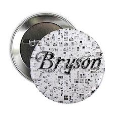 "Bryson, Matrix, Abstract Art 2.25"" Button"