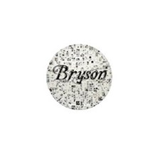 Bryson, Matrix, Abstract Art Mini Button