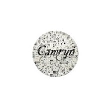 Camryn, Matrix, Abstract Art Mini Button
