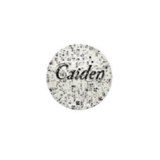 Caiden, Matrix, Abstract Art Mini Button