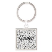 Caiden, Matrix, Abstract Art Square Keychain