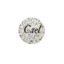 Cael, Matrix, Abstract Art Mini Button