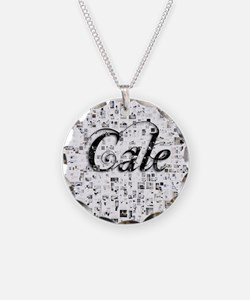 Cale, Matrix, Abstract Art Necklace