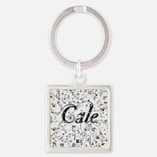 Cale, Matrix, Abstract Art Square Keychain