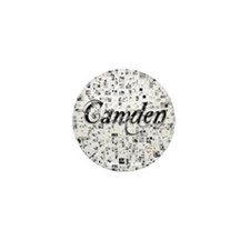 Camden, Matrix, Abstract Art Mini Button