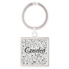 Camden, Matrix, Abstract Art Square Keychain