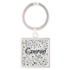 Camron, Matrix, Abstract Art Square Keychain