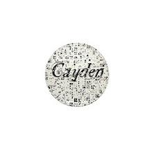 Cayden, Matrix, Abstract Art Mini Button