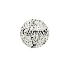 Clarence, Matrix, Abstract Art Mini Button