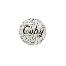 Coby, Matrix, Abstract Art Mini Button