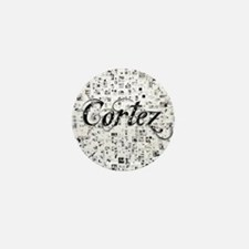 Cortez, Matrix, Abstract Art Mini Button