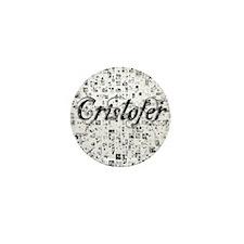 Cristofer, Matrix, Abstract Art Mini Button