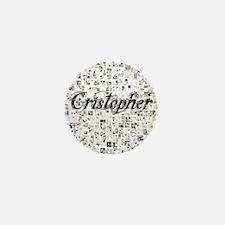 Cristopher, Matrix, Abstract Art Mini Button