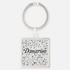 Damarion, Matrix, Abstract Art Square Keychain