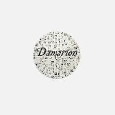 Damarion, Matrix, Abstract Art Mini Button