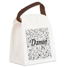 Damon, Matrix, Abstract Art Canvas Lunch Bag