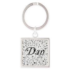Dan, Matrix, Abstract Art Square Keychain