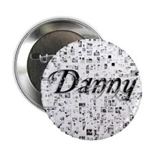"Danny, Matrix, Abstract Art 2.25"" Button"