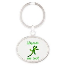 Lizards are Cool Oval Keychain