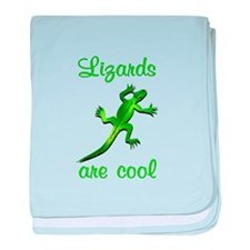 Lizards are Cool baby blanket