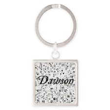 Dawson, Matrix, Abstract Art Square Keychain