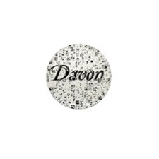 Davon, Matrix, Abstract Art Mini Button