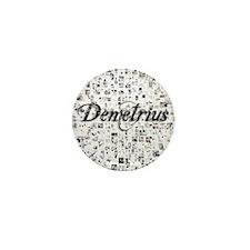Demetrius, Matrix, Abstract Art Mini Button