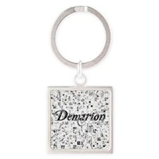 Demarion, Matrix, Abstract Art Square Keychain