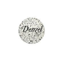 Denzel, Matrix, Abstract Art Mini Button