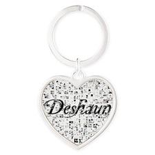 Deshaun, Matrix, Abstract Art Heart Keychain