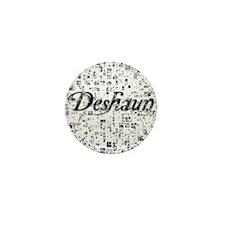 Deshaun, Matrix, Abstract Art Mini Button