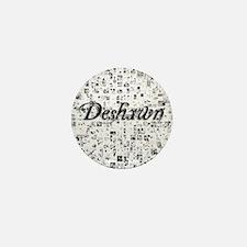 Deshawn, Matrix, Abstract Art Mini Button