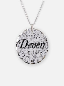 Deven, Matrix, Abstract Art Necklace