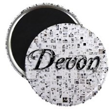 Devon, Matrix, Abstract Art Magnet