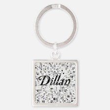 Dillan, Matrix, Abstract Art Square Keychain