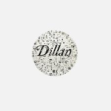 Dillan, Matrix, Abstract Art Mini Button