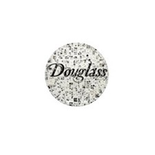 Douglass, Matrix, Abstract Art Mini Button