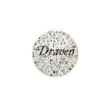 Draven, Matrix, Abstract Art Mini Button