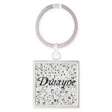 Dwayne, Matrix, Abstract Art Square Keychain